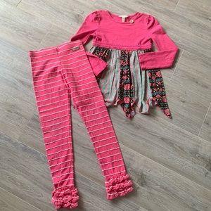 Matilda Jane Girls 2 piece outfit size 8